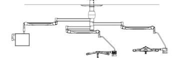 двухкупольный хирургический светильник светодиодный с монитором