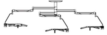 трехкупольный хирургический светильник